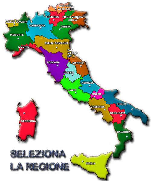 CARTINA REGIONI ITALIA