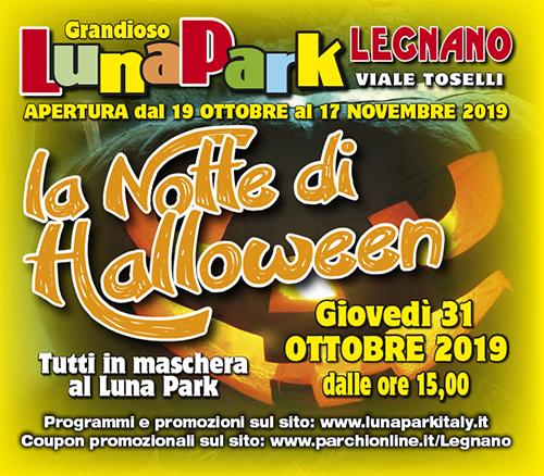 locandina Lunapark halloween Vivilanotizia