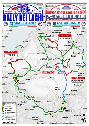 cartina-Rally dei Laghi 2020-vivilanotizia