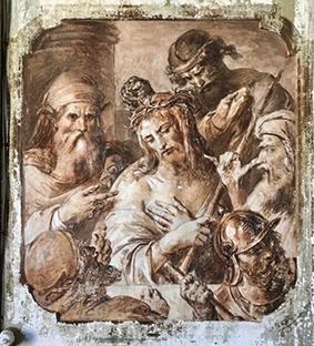 Gesù deriso e incoronato di spine_Francesco Podesti-Vivilanotizia