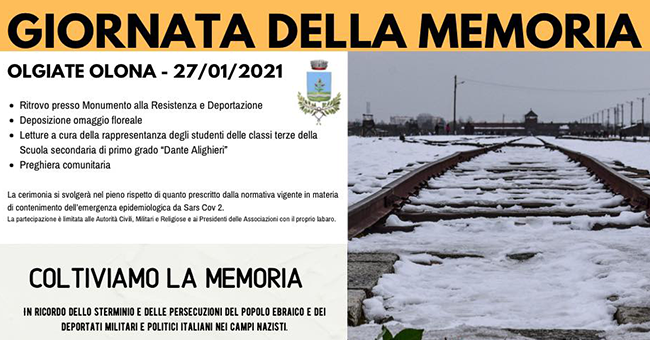 Giornata della memoria Olgiate Olona-Vivilanotizia