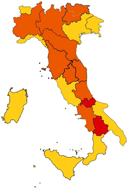 Cartina italia-vivilanotizia